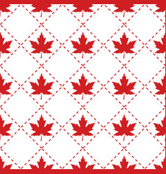 canada red maple leaf patter vector image