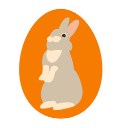 cartoon rabbit flat style vector image