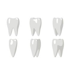cartoon tooth rotation animation frames 3d vector image