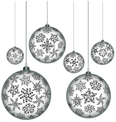 Christmas melody musical christmas balls vector