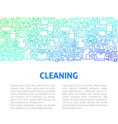cleaning line design template vector image