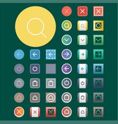 Colorful website web buttons design vector