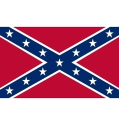 Confederate rebel flag correct proportions colors vector