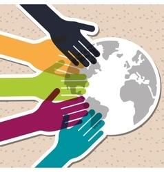 diversity graphic design vector image