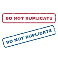 Do Not Duplicate Rubber Stamps vector