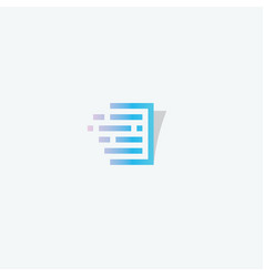 Document linear style logo concept page vector