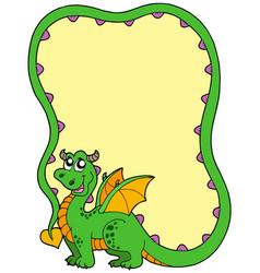 Dragon frame vector