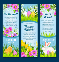 Easter banners for paschal greetings vector