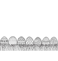 Easter eggs grass vector