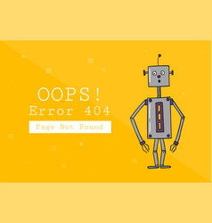 Error 404 page not found design template with vector
