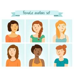 Female Avatars Set vector image