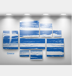 Flag paint in gallery vector