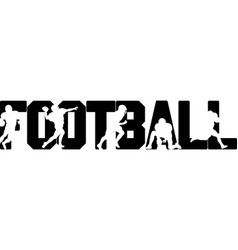 Football on white background vector