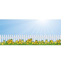 garden lawn vector image