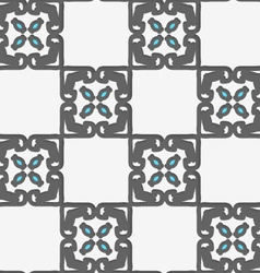 Geometrical Arabian ornament with white and blue vector image vector image