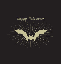 Halloween greeting card holiday background vector