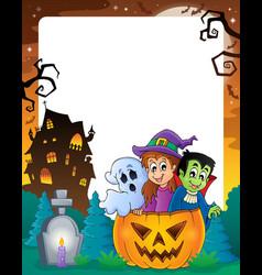 Halloween theme frame 2 vector