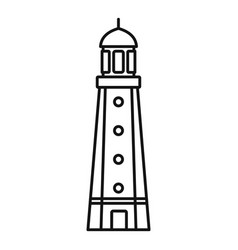 harbor lighthouse icon outline style vector image