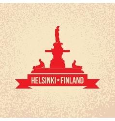 havis amanda symbol of helsinki finland vector image