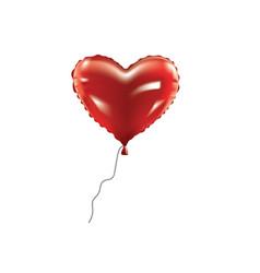 Heart foil balloon vector