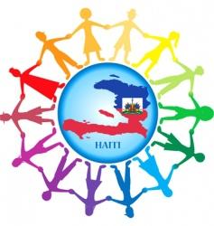 help haiti vector image