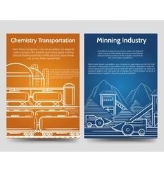 Industrial brochure flyers template vector image