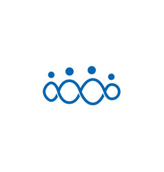 infinity people logo family together icon vector image