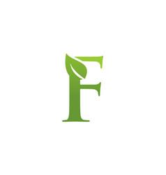 letter f leaf nature logo vector image