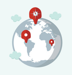 location target travel destination navigation vector image