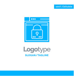 login secure web layout password lock blue solid vector image