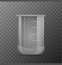 medical transparent flask for chemicals vector image