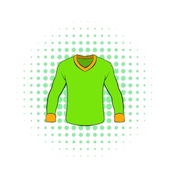 Mens shirt with long sleeves icon comics style vector image