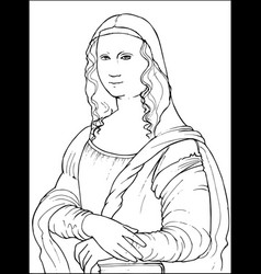 mona lisa coloring vector image