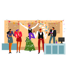 office party christmas and new year celebration vector image
