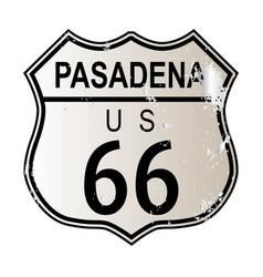 Pasadena route 66 vector