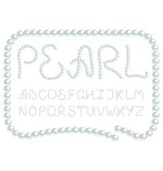 pearl alphabet vector image