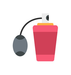 Pink perfume bottle with vaporizer icon flat style vector
