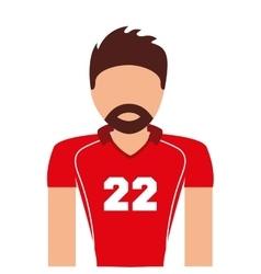 player american football icon vector image