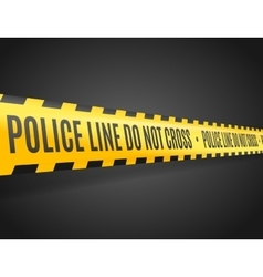 Police Line with Text Not Cross vector image