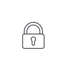 protection closed lock password access thin vector image