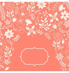Romantic background of various flowers in retro vector image