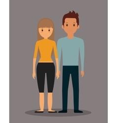 romantic heterosexual couple full body icon image vector image