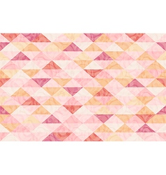 Rose Quatz Marble Triangle Pattern Background vector image vector image