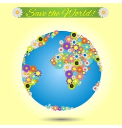 Save the world vector image