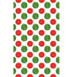 seamless pattern with watermelons slice vector image