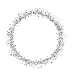 silver circle isolated white background round vector image