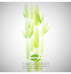 Simple green bamboo with blurred watercolor vector