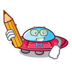 student ufo character cartoon style vector image