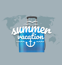 summer vacation world map with the logo and vector image