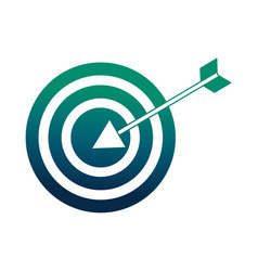 target arrow success icon vector image